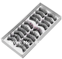 Free Shipping New 10 Pair/Park Thick Long False Eyelashes Eyelash Eye Lashes Voluminous Makeup Drop Ship