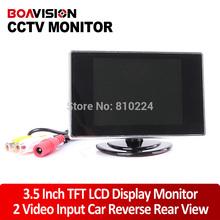 Mini 3.5 pulgadas TFT LCD color monitor de circuito cerrado de televisión de cámara de visión trasera Rear O vista del monitor de color(China (Mainland))