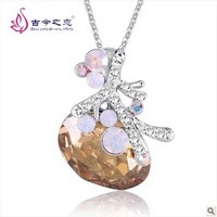 Free Shipping  2013 New  Fashion Austrian Crystal Necklace Female Short Paragraph Clavicle Chain Jewelry Korean Hot Sale