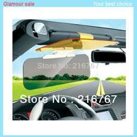 Car antiglare mirrorDay Night Snow anti-dazzling glare proof sun visor Clip shade shield sun glass 2 in1 free shipping