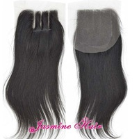 3 Way Part Front Lace Closure Straight In Stock,4*4 Natural Color Virgin peruvian Hair Swiss Lace Top Closure Free Shipping