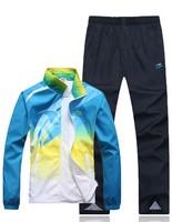 New spring  man sports suit clothing set men brand  clothes coat+pants 2pcs sets casual sports suit