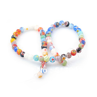 6mm round Murano glass Lampwork beads Wholesale beads jewelry making mix color pattern DIY jewelry findings 384pcs free shipping