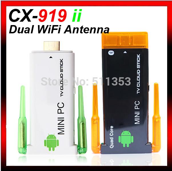 2GB RAM 8GB Rom CX-919 II rk3188 quad core Google mini PC android 4.2.2 smart TV box bluetooth Internet IPTV stick(China (Mainland))