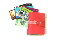 Women's Faux Leather Wallet ID Business Credit Card Holder Cases Purse 24 Slots