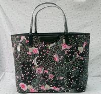 55CM Women Big Shopper Bag / Real leather $ PVC Material Women Tote Bag / Designer Art Print Tote With Optional Patterns(BG156)