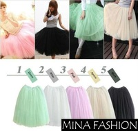 HOT! Women Princess Fairy Style 5 layered Tulle Bouffant Skirt YSK-0096 HOT