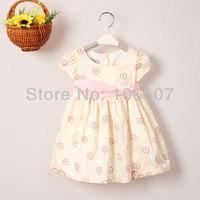 1 pcs baby girl summer Floral Printed dress wedding party kids' princess dress girls' ball gown tutu dress hot sell