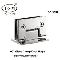 90 Degree Shower Room Glass Clamp Door Hinge DC-3059 Chrome Finish Slightly Adjustable Angle 5 Degree