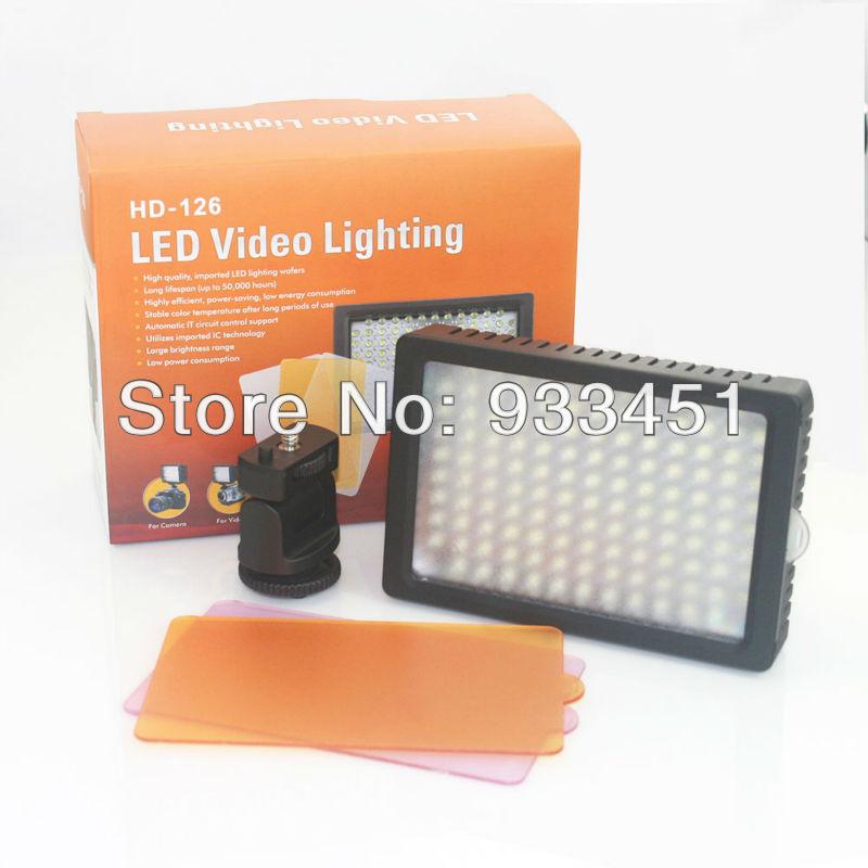 Professioanl camera light HD-126 LED Video Light for DSLR Camera DV Camcorder canon nikon sony(China (Mainland))