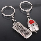 Mouse and keyboard Keychain Creative Personality Open Cheap Gift Mouse and Keyboard Key Couple Keychain For Lovers' Gifts SL-519(China (Mainland))