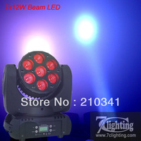 4unit Free shipping,Strong Beam Moving Head LED 7x12W Osram RGBW 4in1 LED,Mini Beam Moving Head Lighting