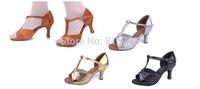 Latin dance shoes adult women's high-heeled dance shoes dance shoes isointernational soft outsole Latin shoes-259