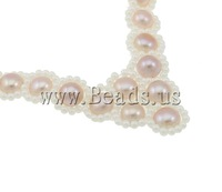 Free shipping!!!Natural Cultured Freshwater Pearl Jewelry Sets,Wholesale Jewelry, bracelet & necklace, with Glass