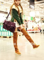 The new 2013 han edition women's winter boots fashion with flat boots high knee-high boots