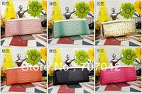 Gorgeous lady fashion long style wallet metal buckle closing Evening Bag Handbag Purse Clutch 5002