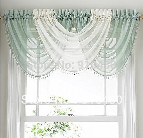 Luxury Bead Sheer Curtain Valance Waterfall Curtain Valance