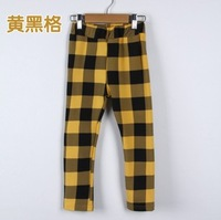 B&K New Arrival Baby Autumn Spring Trousers Kids Fashion Long Plaid Pants For Boys Cotton Pants Children Clothing Retail  kz1393