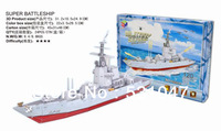 High quantity Intellectual toy 3D Puzzle of Super Sailing Ship  with 120pcs assembly Free Shipping!