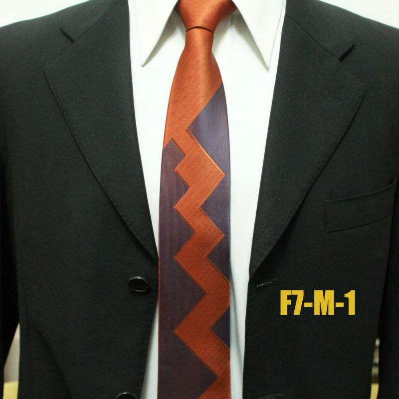 New Arrival Novelty Woven Mens Business Striped Neckties For Man Dark Orange Original Neck Ties For Men Gravatas 7CM F7-M-1(China (Mainland))