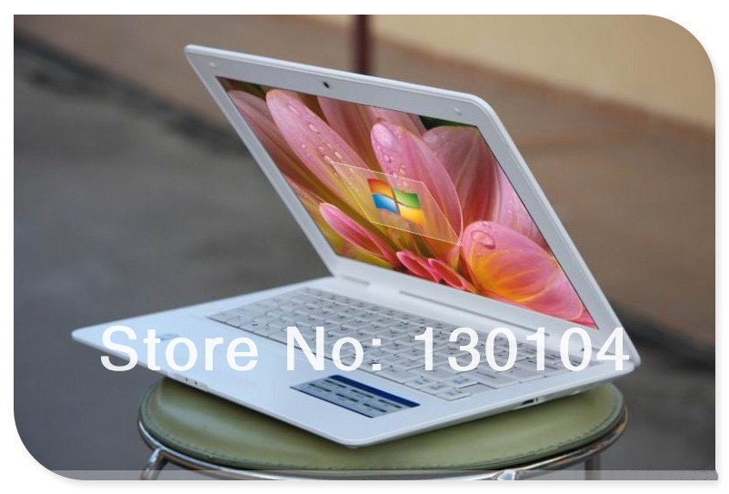 Free Shipping cheapest 13.3 inch ultrabook thin oem laptop computer Intel D2500 1.86GHZ Dual core netbook notebook pc 2GB 160GB(China (Mainland))