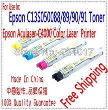 Free Shipping Toner For Epson Aculaser C4000 Printer,ALC C13S050091 C13S050088 C13S050089 C13S050090 Toner For Epson C4000 Toner