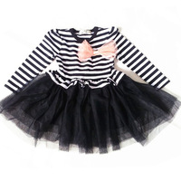 2013 spring & autumn children clothing long-sleeve girl dress puff dress princess baby girl tulle dress