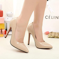 Free Shipping Big Size 4~11 2014 Classics Women's  pumps Fashion Sexy Red Bottom High Heels Shoes lady Party dress shoes