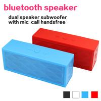 mini portable wireless bluetooth speaker calls handsfree dual speakers stereo micro sd card mp3 player FM radio free shipping