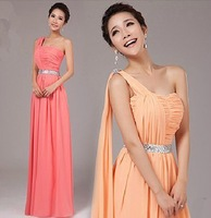 Beauty Garment hot selling 2014 New arrival evening dresses long design one shoulder formal dress