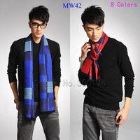 Fashion Viscose Cotton Scarf For Man And Woven Autumn Winter Muffler Men Women Long Warm Wrap  MW42   Free Shipping