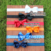 13 colour New design solid  ribbon headband solid boutique hair bow kids hair bows Girls' hair accessories 60pcs/lot