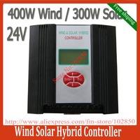 700W wind solar hybrid system street light controller(400W wind+300W solar),24V,PWM charging mode,LCD display,free shipping