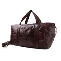 Autumn Vinter Leather Travel Bags For Women Large Genuine Leather Travel Duffles Ladies Travel Shoulder Messenger Bags Handbag