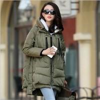 Free Shipping Wholesale 2013 new fashion women slim medium-long down coat outerwear winter women clothing plus size down jacket