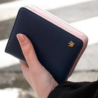 Women Change Purse 2015 Korean Fashion Small Women Purse PU Leather Zipper Women Purse Female Wallets Coin Purses Free Shipping