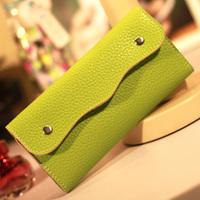 Women's medium-long wallet coin purse card holder day clutch bag