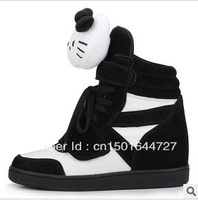 Free shipping, the new 2013 han edition hello Kitty high help shoes increased thick wedge bottom leisure shoes