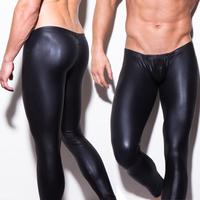 New Arrival! N2N Black Skins Men's Sexy Faux Leather Leggings Tights Pants