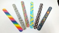 6 colors mixed wholesale Long Environmental Friendly double printed Sanding Nail Files / Polisher / Buffer, 500 pcs/lot