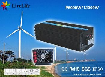LiveLife 6000w max 12000w pure sine wave power inverter 12v DC to AC 110v 120v