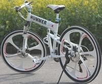 Free shipping Hummer mountain bike 26 fashion folding mountain bike derailleur off-road bicycle shock absorption car