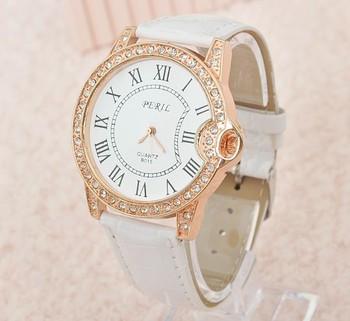 2015 новинка 8 цвета дамы кожа кристалл алмаза горный хрусталь часы женщины платье кварцевые наручные часы часы для женщин