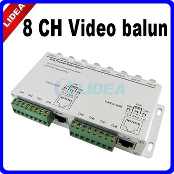 8 Channel BNC to UTP RJ45 Camera DVR CCTV Video Balun Transformer CN B-18