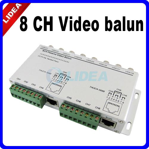 8 Channel BNC to UTP RJ45 Camera DVR CCTV Video Balun Transformer CN B-18(China (Mainland))
