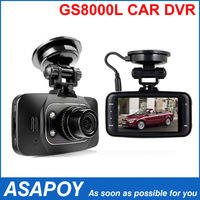 "High Quality Full HD 1080P Car DVR Recorder GS8000L with 2.7"" LCD + 140 Degree Wide Angle + HDMI + G-Sensor + Free Shipping !"