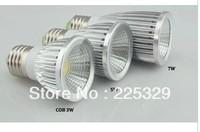 Ultra Bright MR16/GU10/E27 Dimmable led COB Spot down light lamp bulb 6WFree shipping