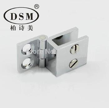 0 Degree Polish Glass Door Hinge Copper Clamp DG-1001 For Shower Room