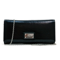 Anais Gvani Brand New Women's Genuine Leather Designer Cheap Clutch Style Wallet with Bonus Chain Strap