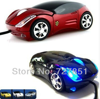Wholesale&Retail Car Model USB 3D Optical Wired Mouse Mice for PC Computer Laptop,FREE SHIPPING(China (Mainland))